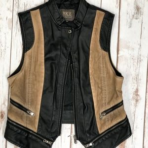 MOTO FAUX LEATHER VEST